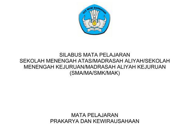 Silabus Prakarya Dan Kewirausahaan Kurikulum 2013 Revisi 2017 Pdf Kurikulum Pendidikan Guru