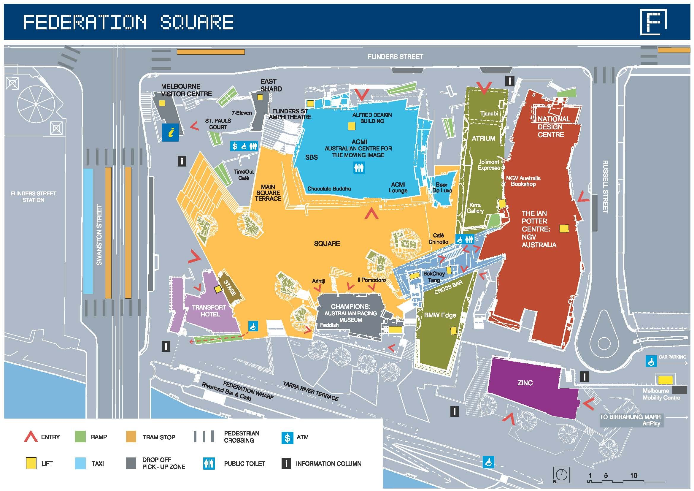 Federation Square Map Pin by Azra on federation square in 2019 | Map, Design, Projects