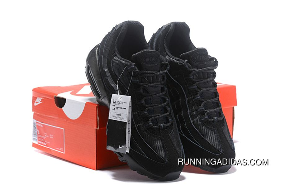 wholesale dealer ad921 63b6b Nike Air Max 95 609048 092 All Black Running Sneaker Latest