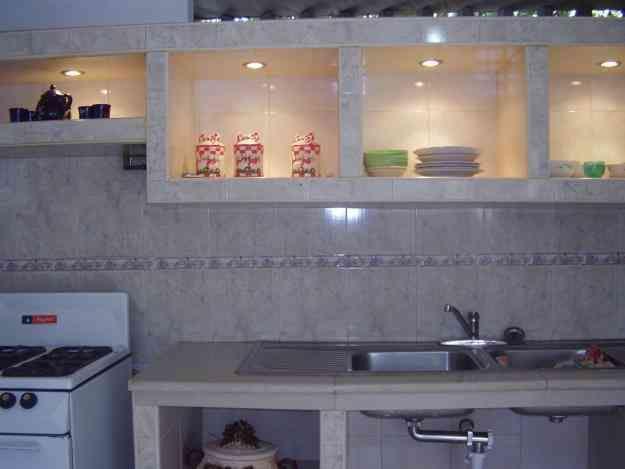 Cocina empotrada en concreto y ceramica  Imagui  COCINA  Cocina empotrada Cocina de cemento y Cocinas integrales pequeas