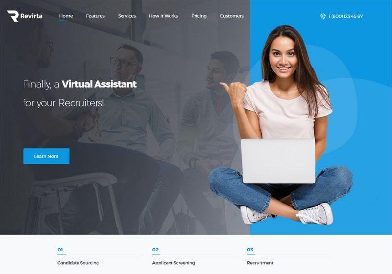 12 Best Virtual Assistant Website Templates 2020 Virtual Assistant Virtual Assistant Website Website Template