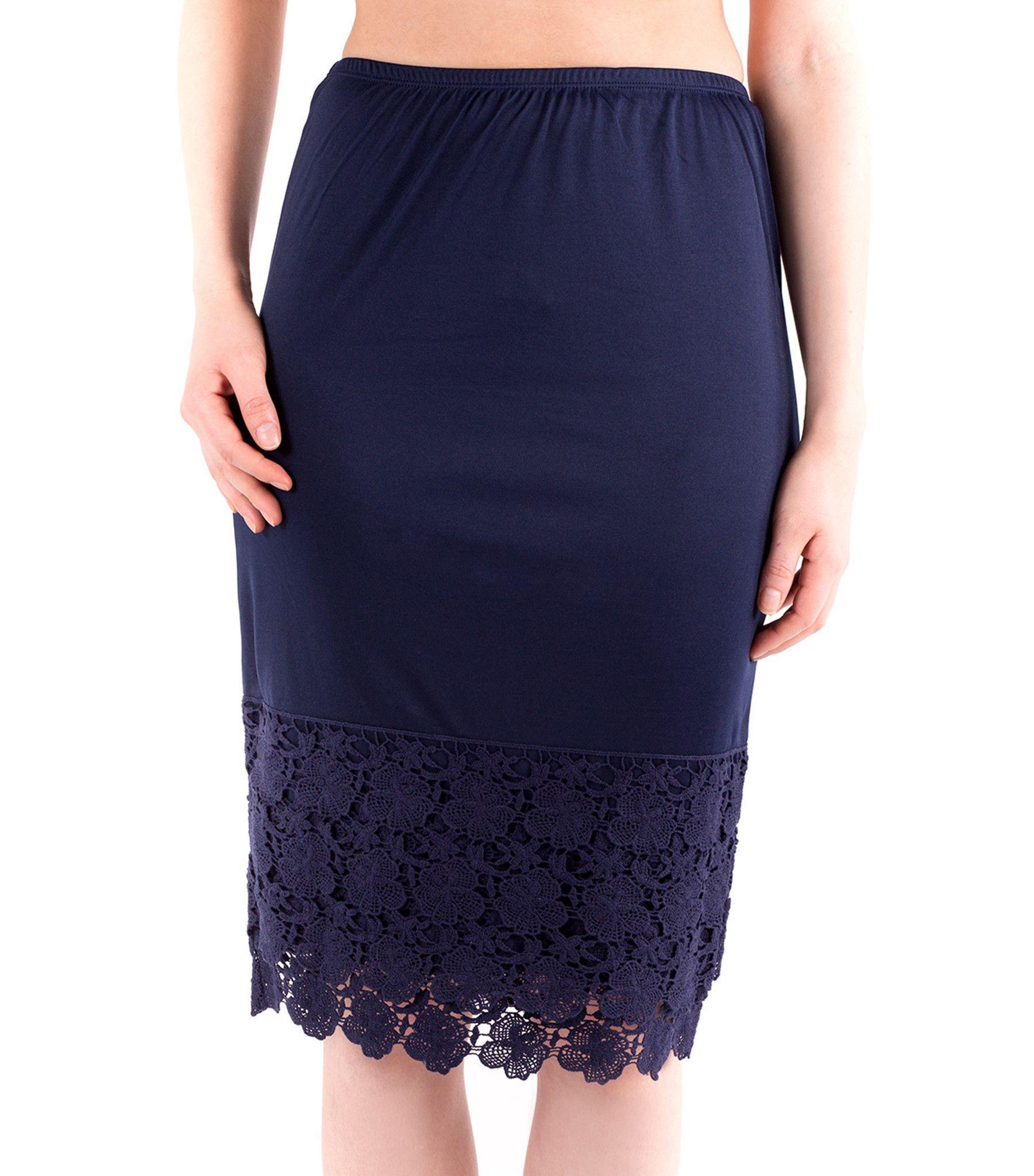 Pencil Skirt Extender Slip - Navy
