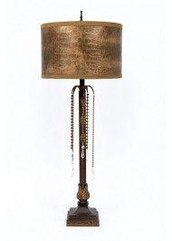 L40159 Bronze Leather Croc Multi Bead Prisms Metal