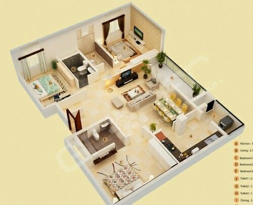 Pin By Azma Hanina On Small House Plans 3d House Plans Home Design Floor Plans Sims House Plans