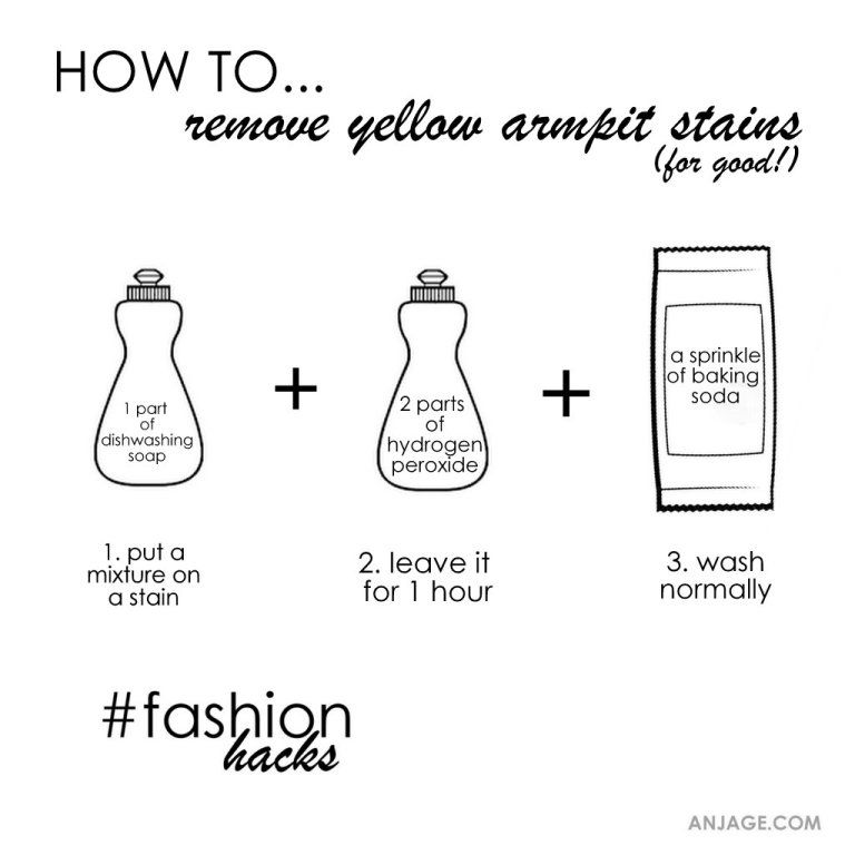 Diy Remove Yellow Armpit Stains Fashionhacks