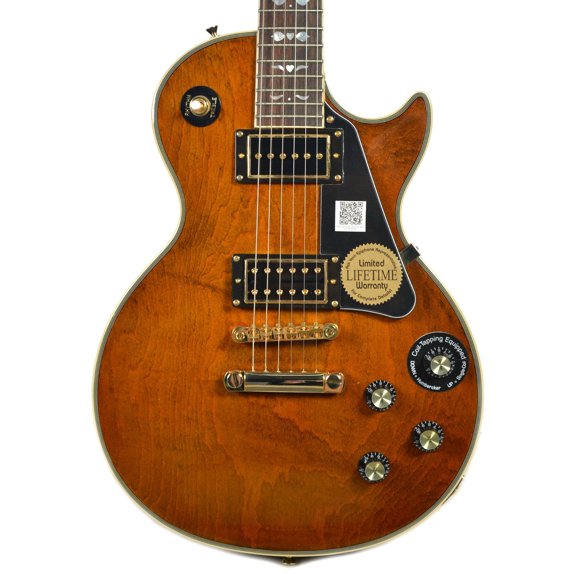 Epiphone Lee Malia Signature Les Paul Custom Walnut Limited Edition w Gibson USA Pickups