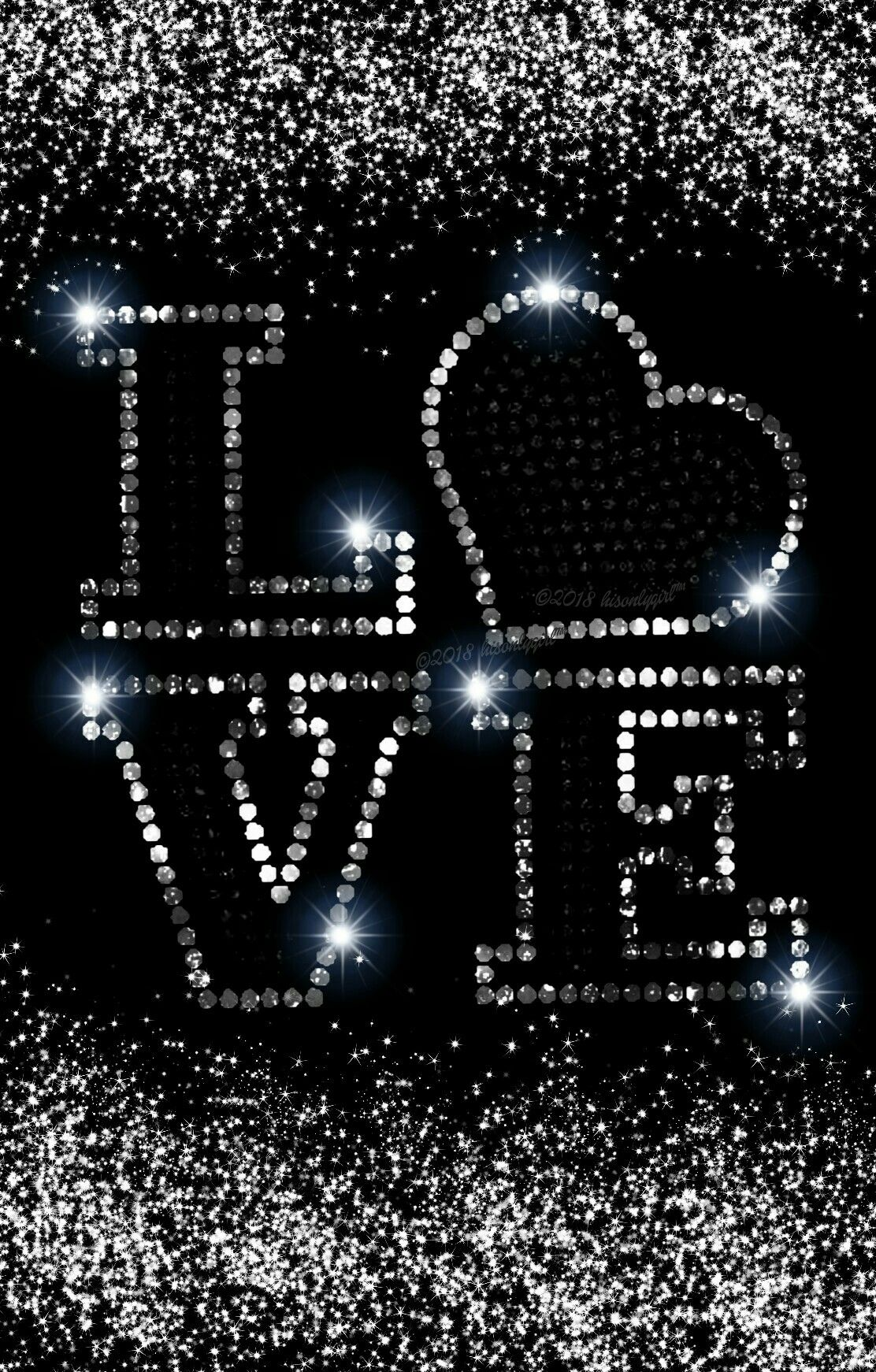 Black And Silver Glitter Wallpaper I Created For Cocoppa Font