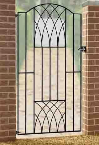 Delicieux Verona Tall Metal Side Gate   Buy Online   Garden Gates Direct