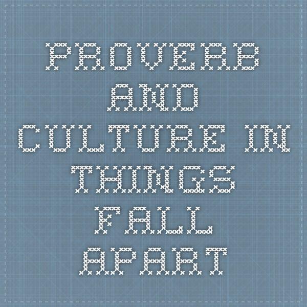 igbo proverbs in things fall apart