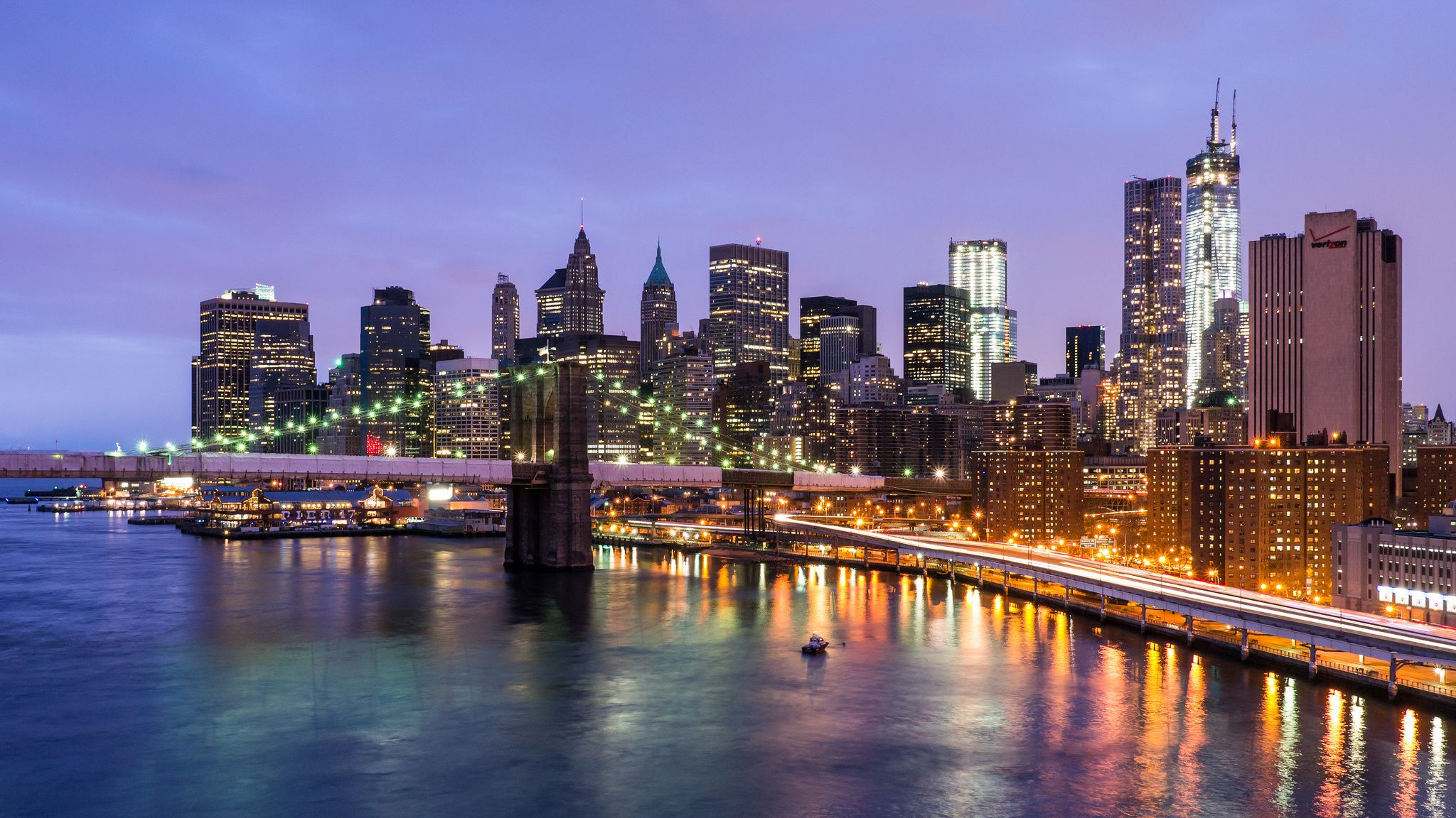 Обои river, сша, new york, manhattan, Nyc, new york city. Города foto 10