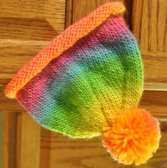 Easy Rolled Brim Hat Knit Pattern Baby Hat Knitting