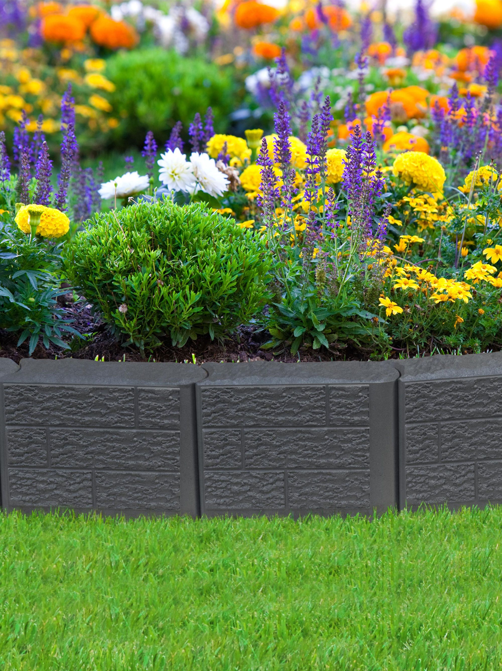 Stomp edge edging for landscape lawn garden for Garden border planting ideas
