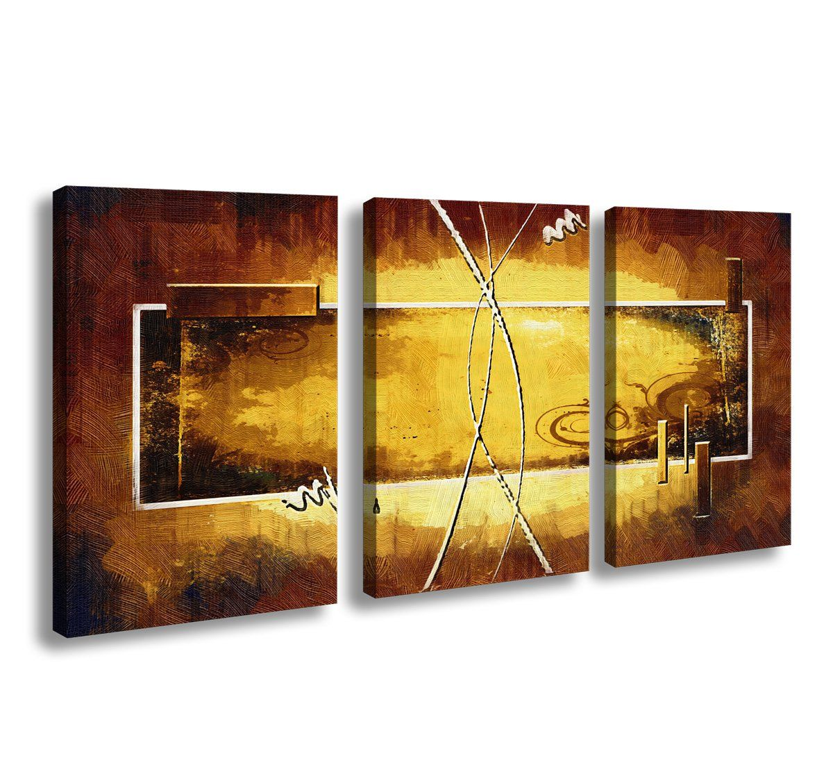 Cao Gen Decor Art-A01146 3 panels Framed Wall Art Canvas Prints ...