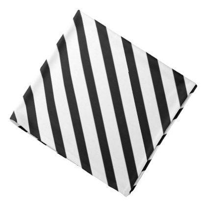 Black White Stripe Formal Lapel Pocket Square Bandana Zazzle Com Black And White Black And White Style Black And White Tuxedo