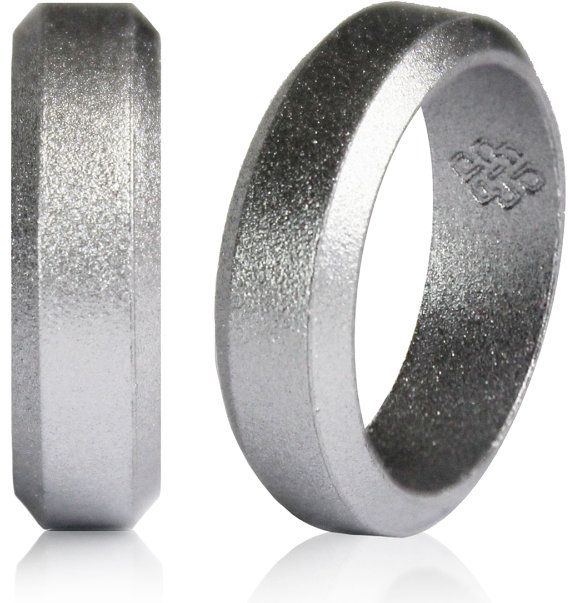 Silver Silicone Wedding Ring By Knot Theory 20 Available In