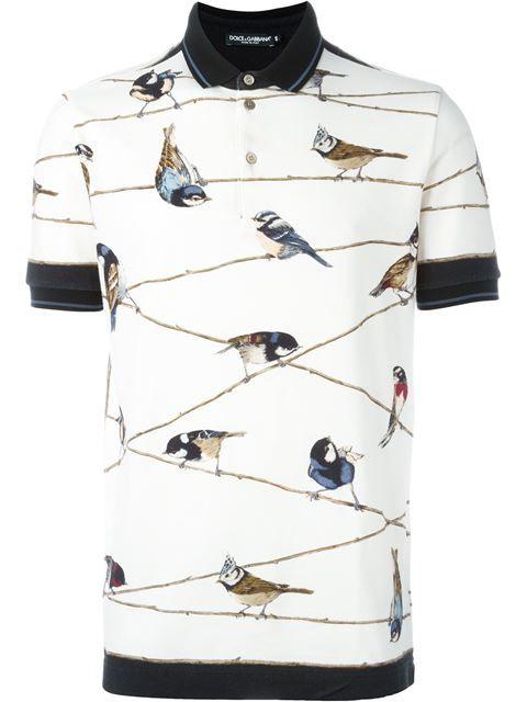 Cool Polo Shirts! Beautiful Bird-Themed Polo Shirt from dynamic duo Dolce    Gabbana.  581a78667998b