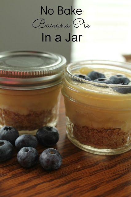 No Bake Banana Pie in a Jar #SundaySupper #bananapie