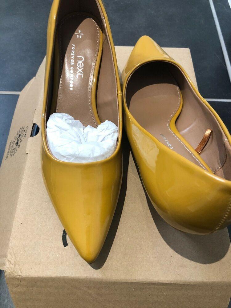 Brand New Mustard Yellow Kitten Heels From Next Size 5