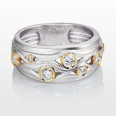 Designer Diamond Wedding Ring Luccello 0 41ct 18k Gold