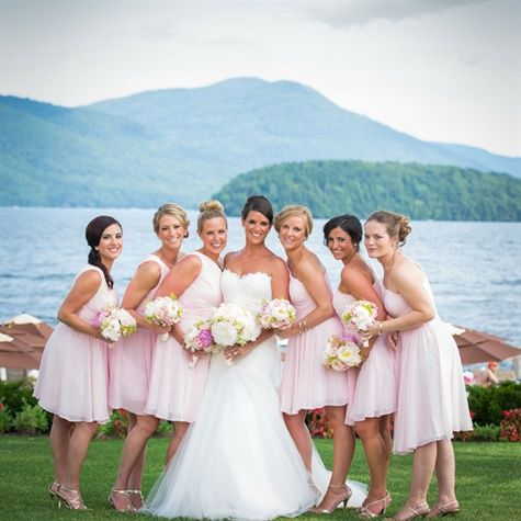 Bridesmaid Pale Pink Bridesmaids Dresses