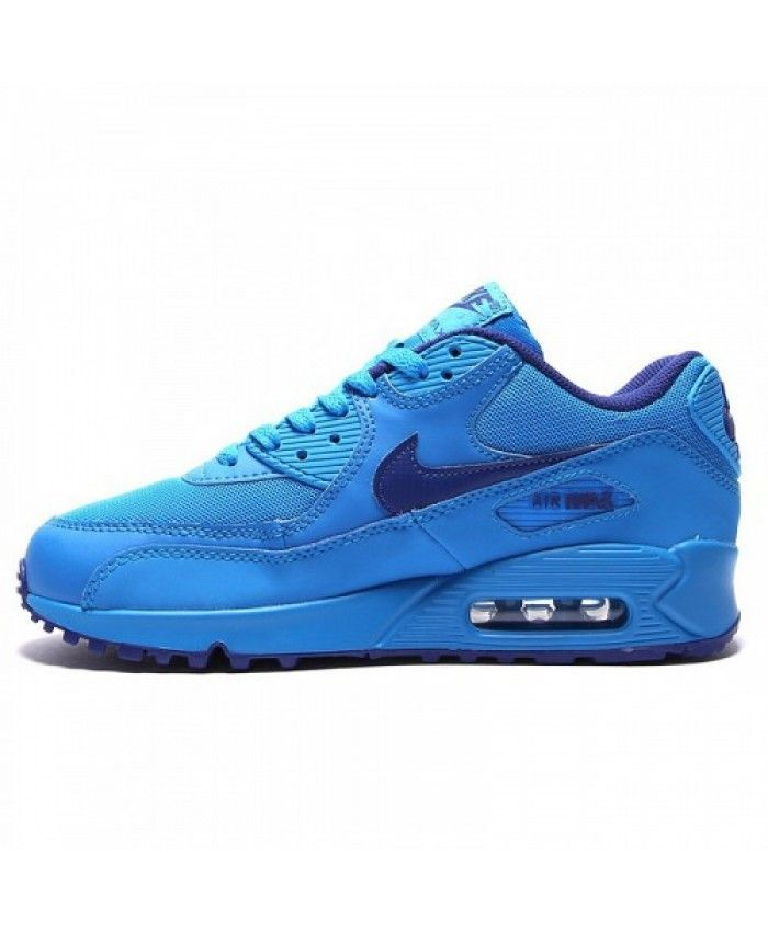 Nike air max 90 junior flood blue trainers is popular with ...