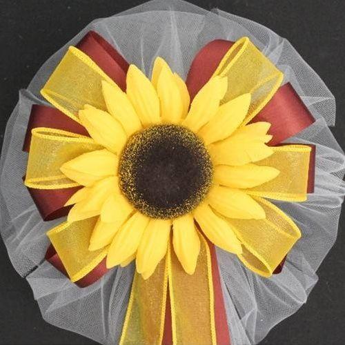 Yellow Sunflower Wedding Pew Bow Ebay Sunflower