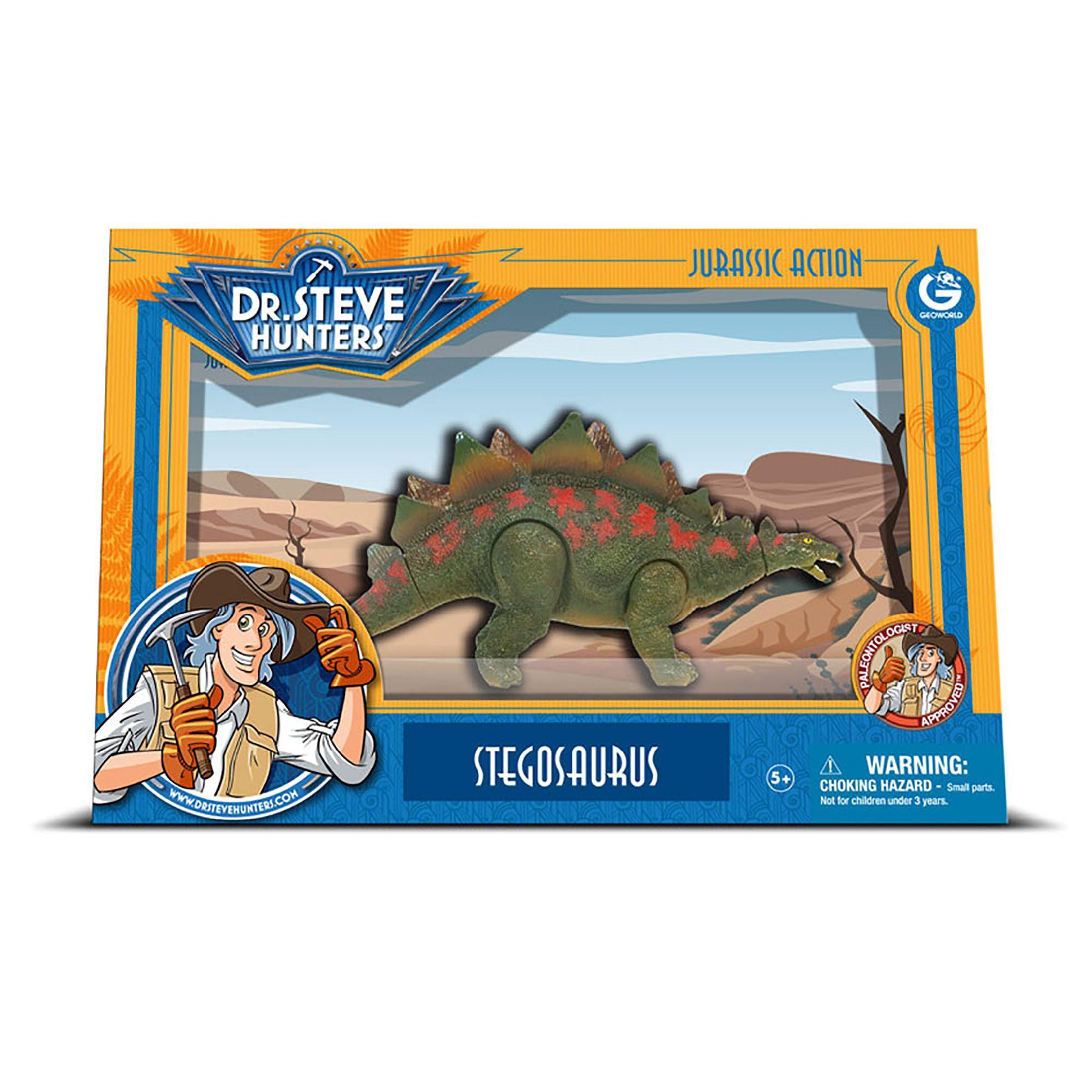 Geoworld Dr. Steve Hunters Medium Jurassic Action Stegosaurus