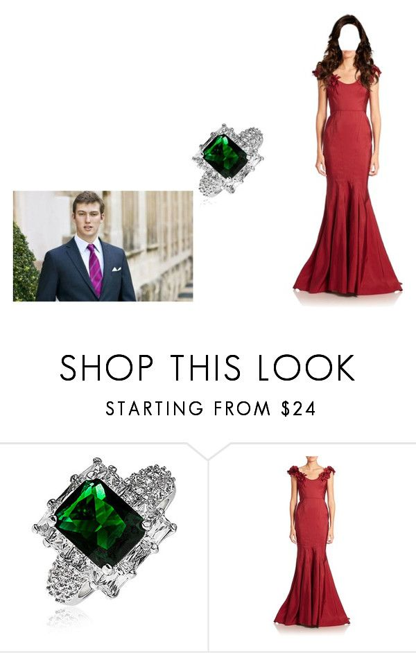 """Prince Sebastien Proposes to Princess Mary-Louise"" by chelseaofwales ❤ liked on Polyvore featuring Bling Jewelry and Marchesa"