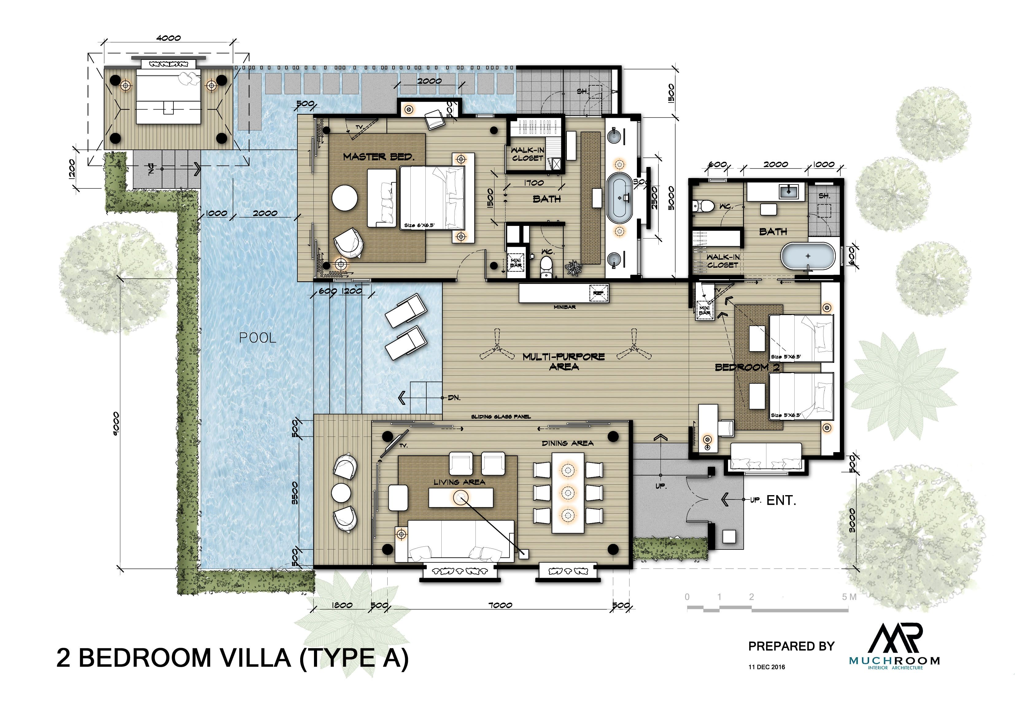 Pool Villas A Plan Modern House Floor Plans Small House Floor Plans House Plans