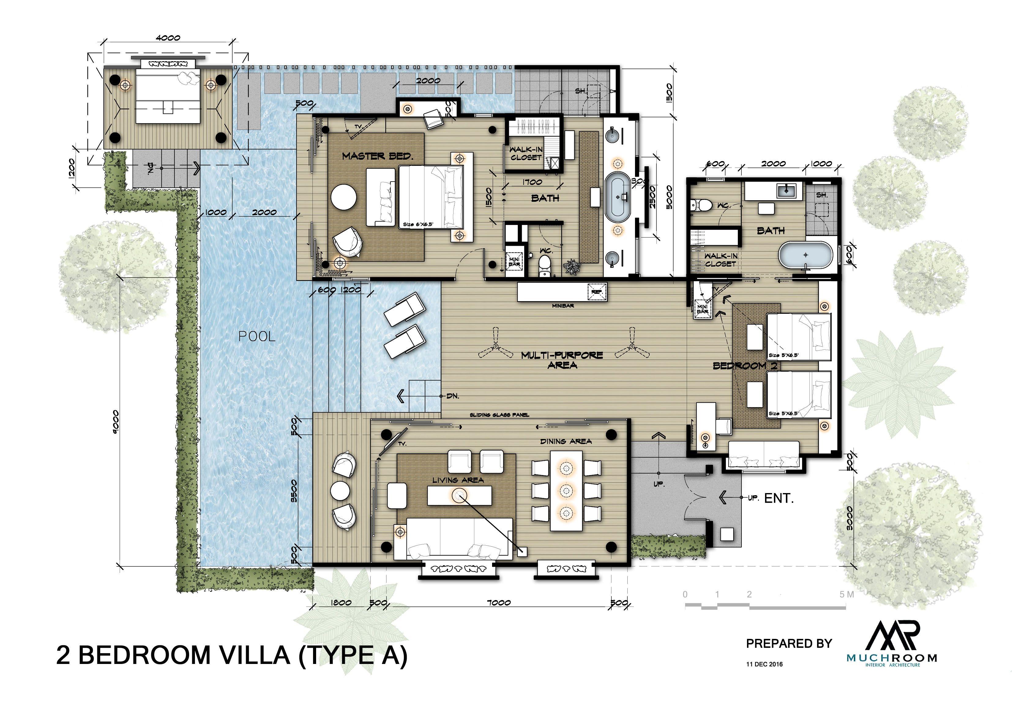 Pool Villas A Plan Modern House Floor Plans Small House Floor Plans House Plans