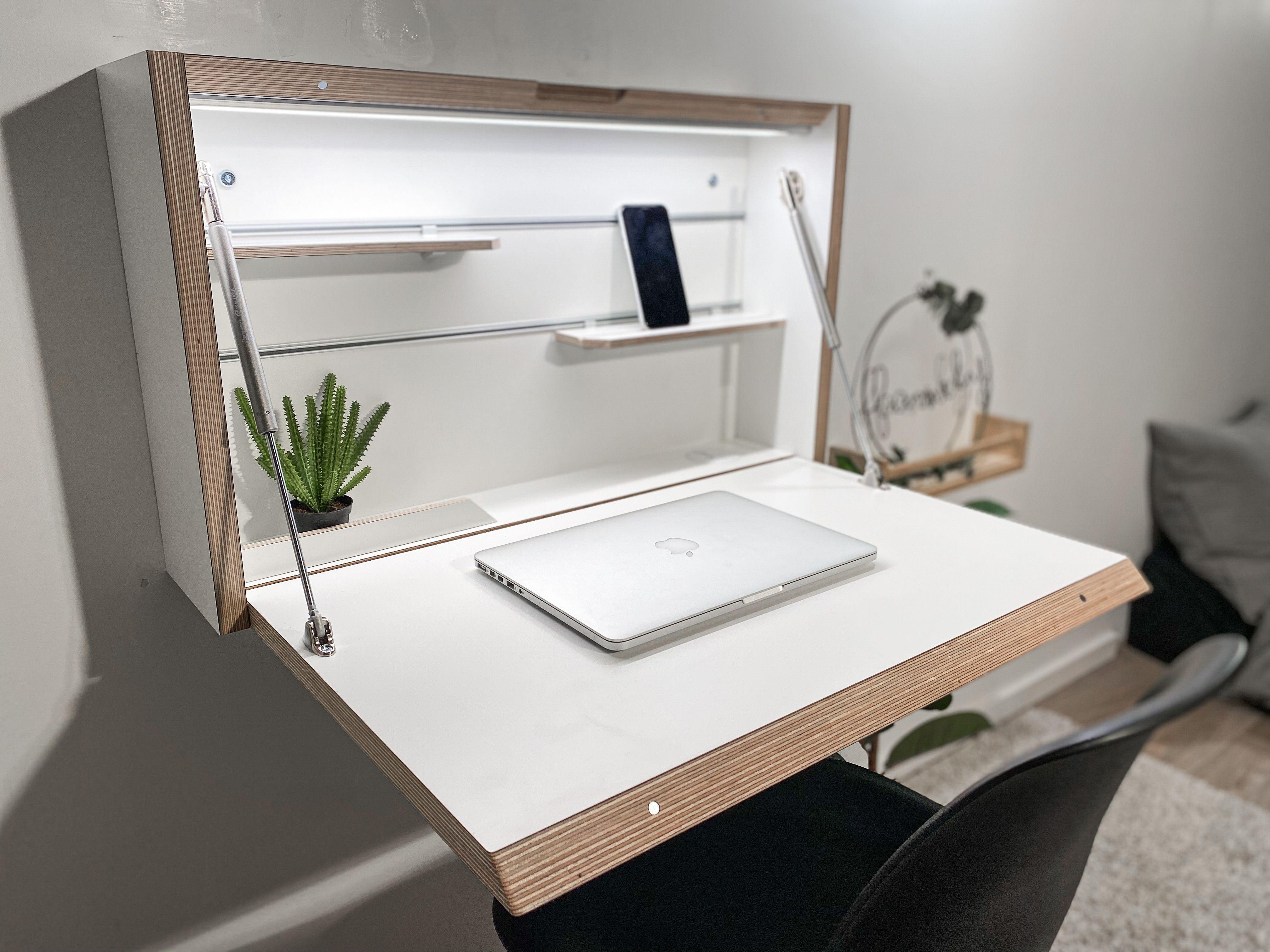 Wall Mounted Folding Desk Space Saving Desk Office Desk Etsy