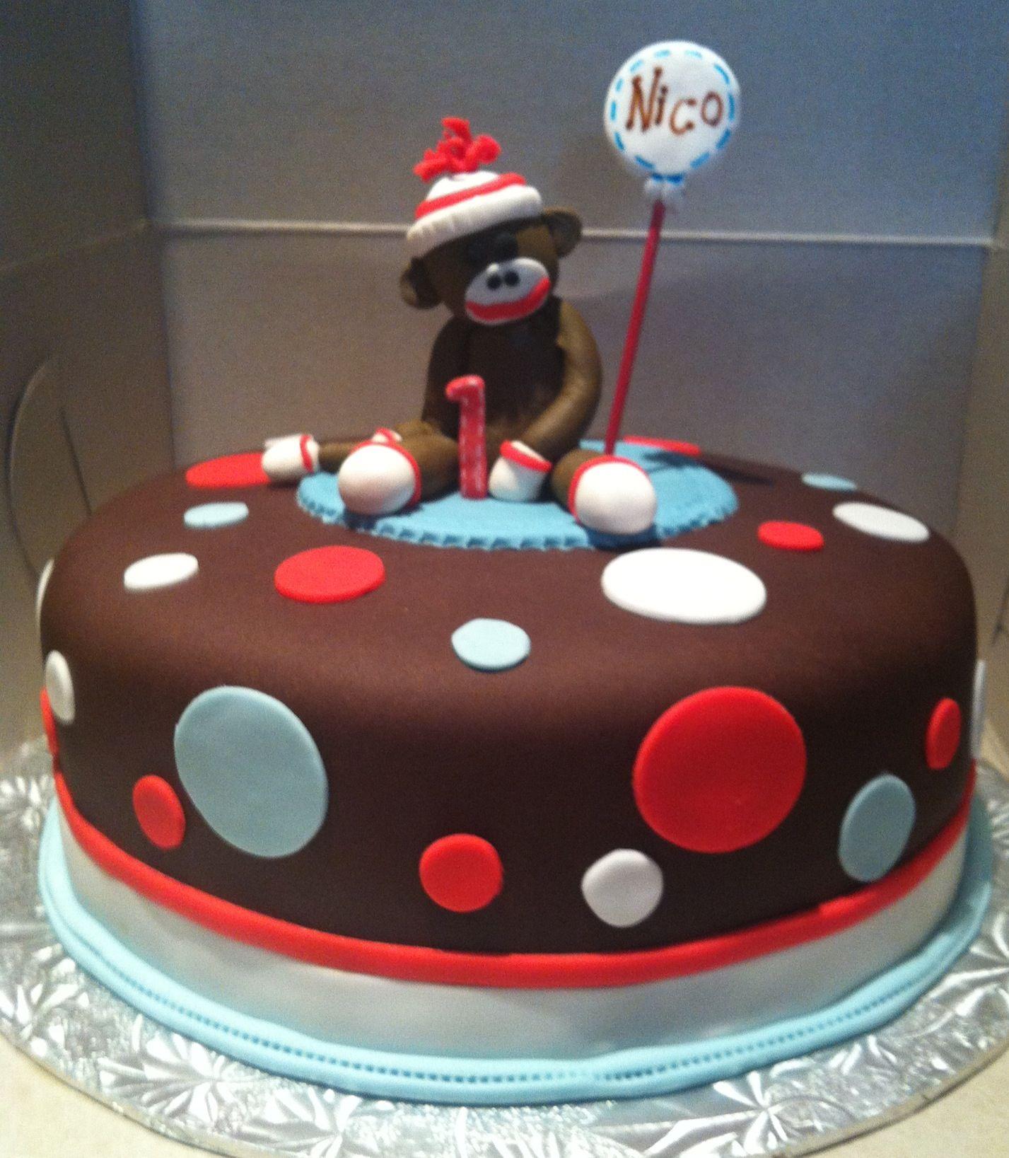 Sock Monkey Cake Birthday Party Ideas Pinterest