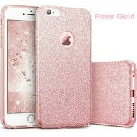 abbe1261bdd Wish | Ultra Slim 3 Layer Hybrid Back Cover Sparkle Shinning Protective  Bumper Bling Glitter Case for iPhone 5/5S/SE iPhone 6/6s 6Plus 6s Plus 7  7Plus