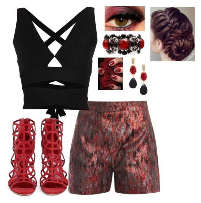 """""""Red and Black"""" by smith-1979 ❤ liked on Polyvore featuring Markus Lupfer, Proenza Schouler, Sergio Rossi and Chico's"""