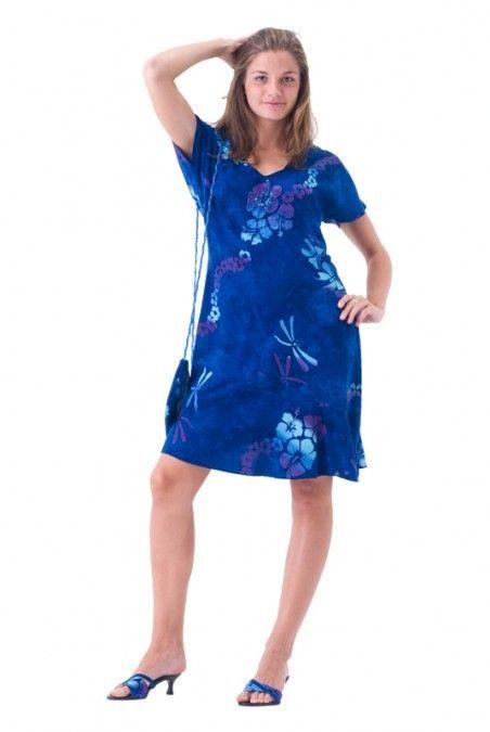d2a2378854ea A Line Appeal Short Hawaiian Dress | Casual Hawaiian Dresses ...