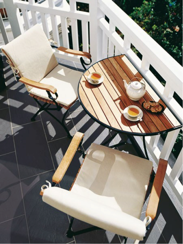 Convertible Table Architectural Landscape Design Small Balcony Furniture Decor Outdoor