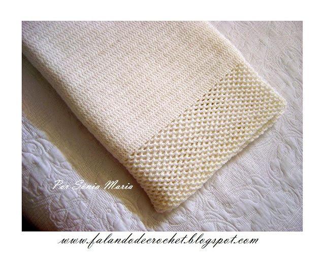 Manta sencilla de ganchillo para bebé | crochet | Pinterest ...