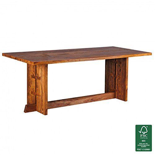 FineBuy Esstisch Massivholz Sheesham 200 x 90 x 76 cm Esszimmer - ikea küche tisch