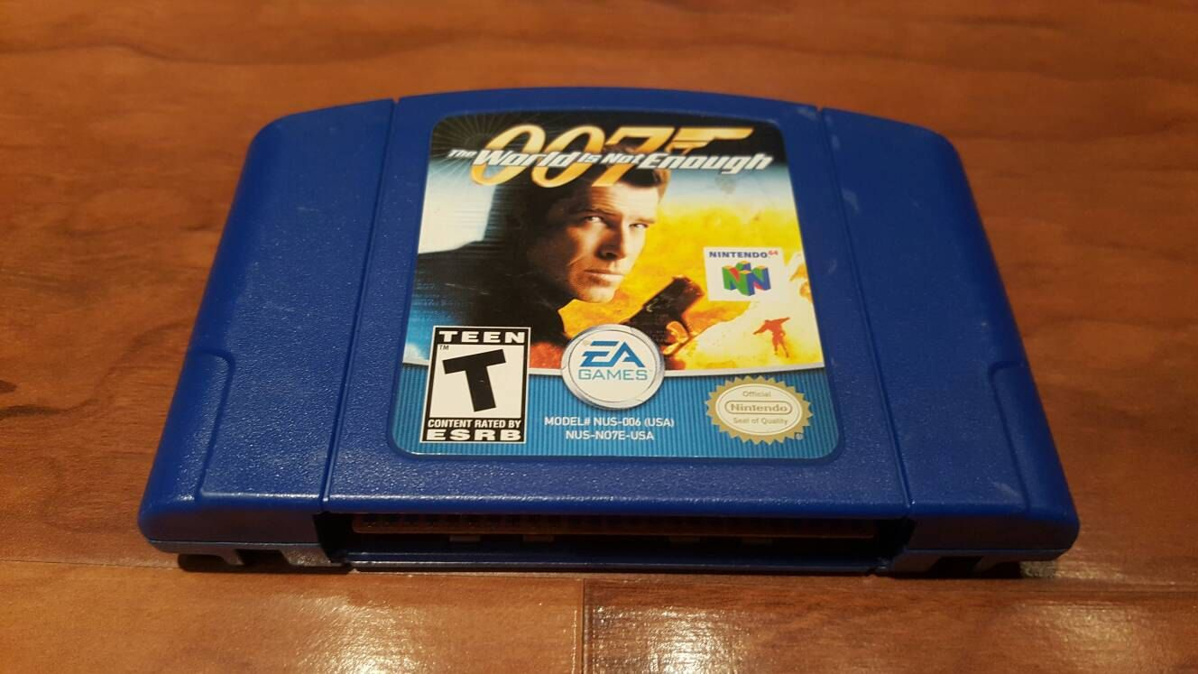 007 The World Is Not Enough Nintendo 64 007 Video Game Nintendo