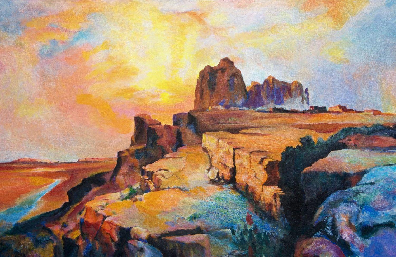 Hopi Village-Arizona by George Porter after Thomas Moran ...