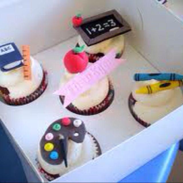 Teacher cupcakes | cake ideas | Cupcakes, Teacher cupcakes ...