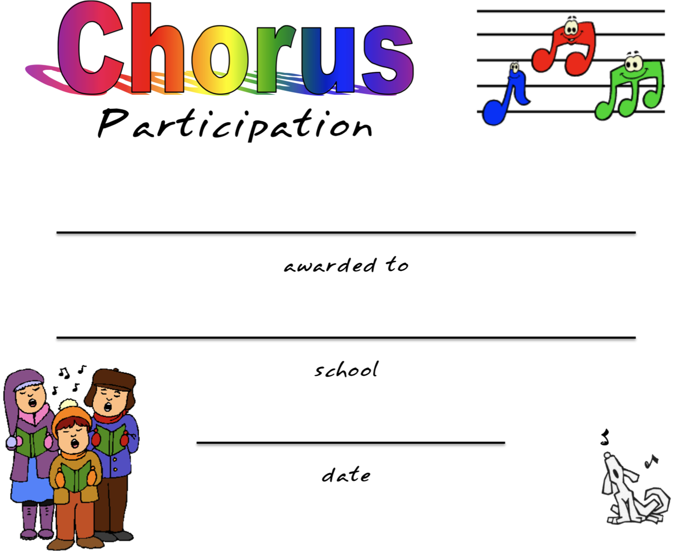 Tons Of Certificates For Chorus Participation Perfect