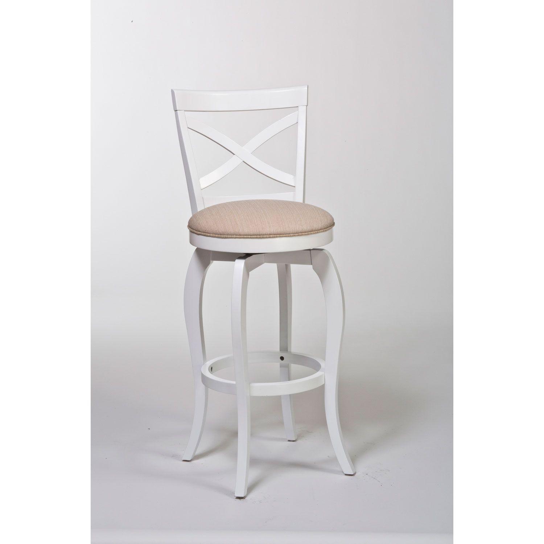 Hillsdale Furniture Ellendale White Swivel Counter Stool 5304 826