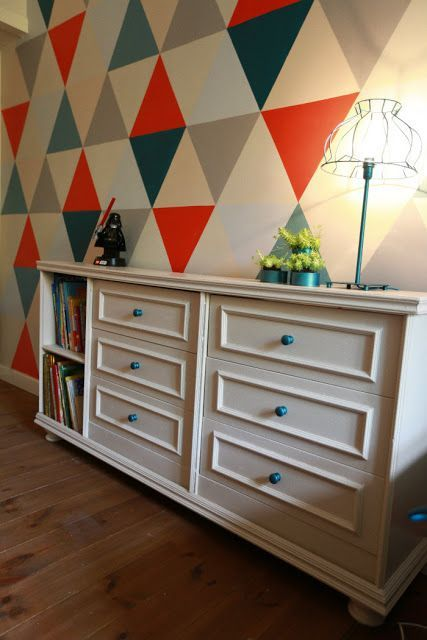 dresser made from 2 ikea rast drawers, some mdf, and legs! also