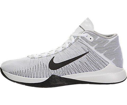 wholesale dealer 57fc2 7dcd5 Nike Mens Zoom Ascention WhiteBlackWolf GreyStealth Basketball Shoe 85 Men  US     More info could be found at the image url.  MenFashion