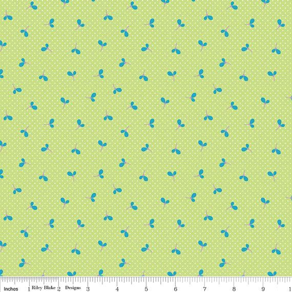 Riley Blake Wildflower Meadow by Melly and Me bundled by Fabric Shoppe online fabrics. This listing is for Wildflower Meadow Spot In Greeni, shown