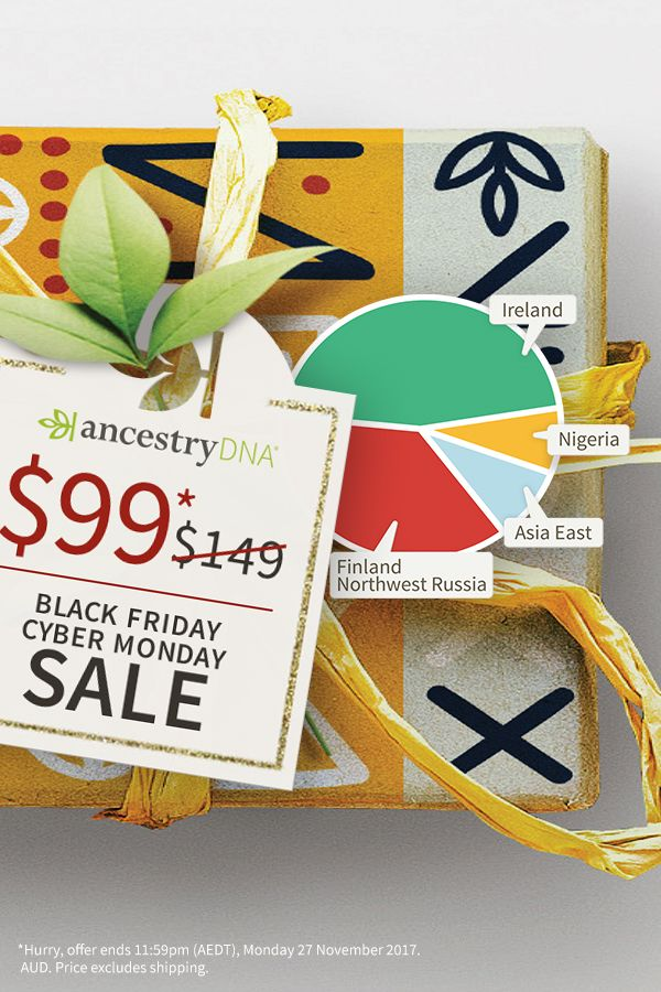 Give the gift of discovery this holiday season. What will you discover? - 30% Off AncestryDNA