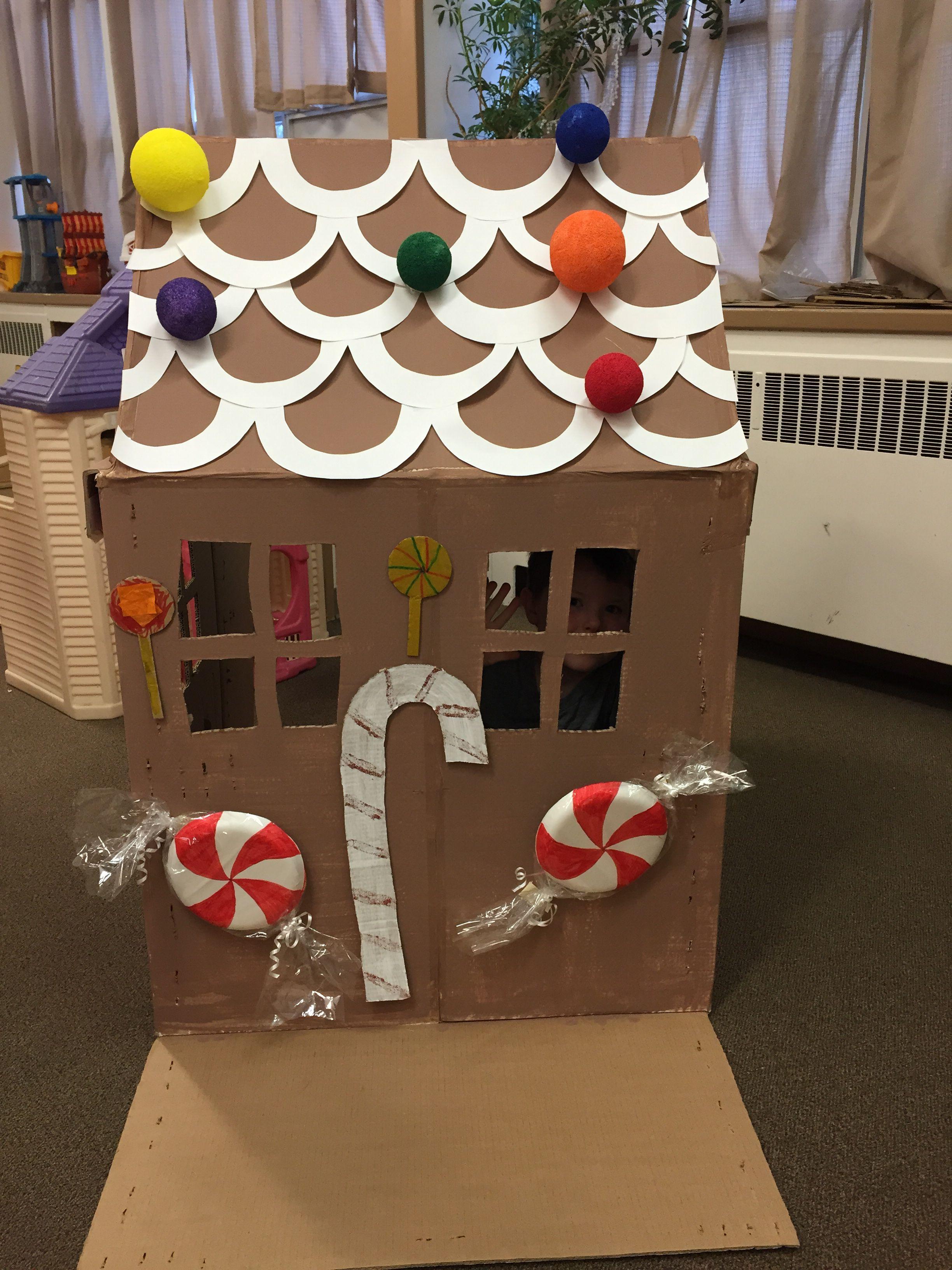 Cardboard Gingerbread House For Preschool