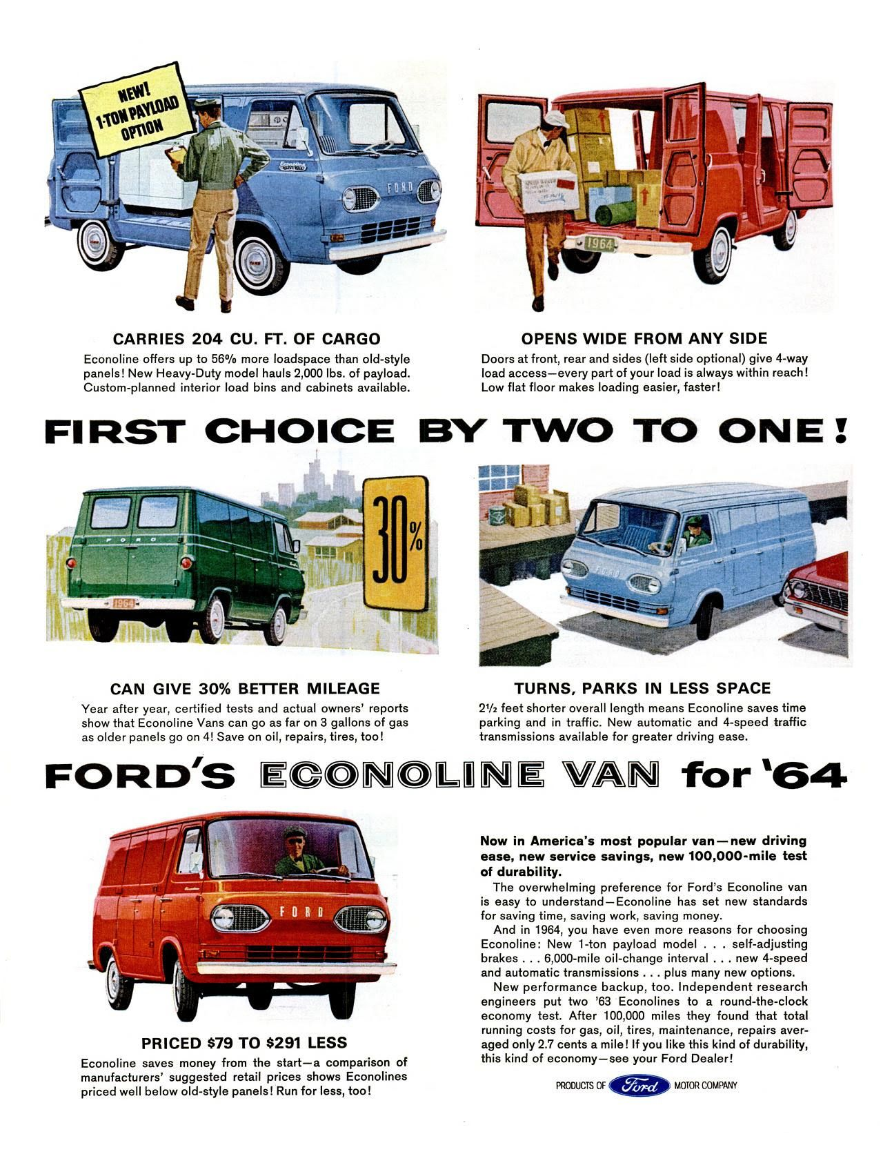 Pin By Chris G On Vintage Car Ads Ford Trucks Ford Van 1964 Ford
