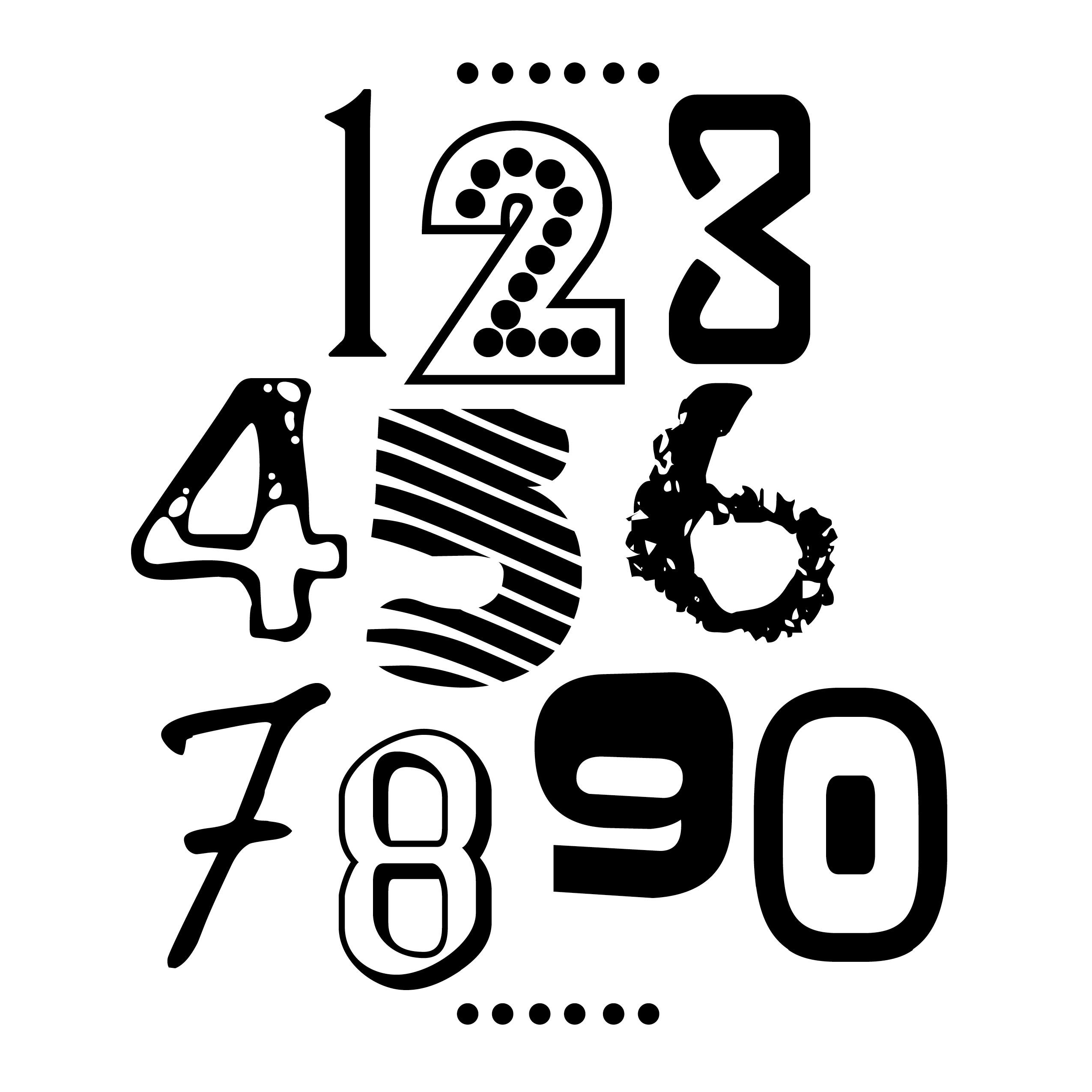number fonts | Numbers | Graphic design fonts, Funky fonts